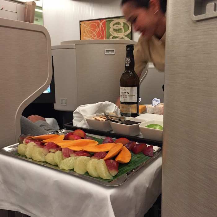 Cathay Pacific Business Class 777 food