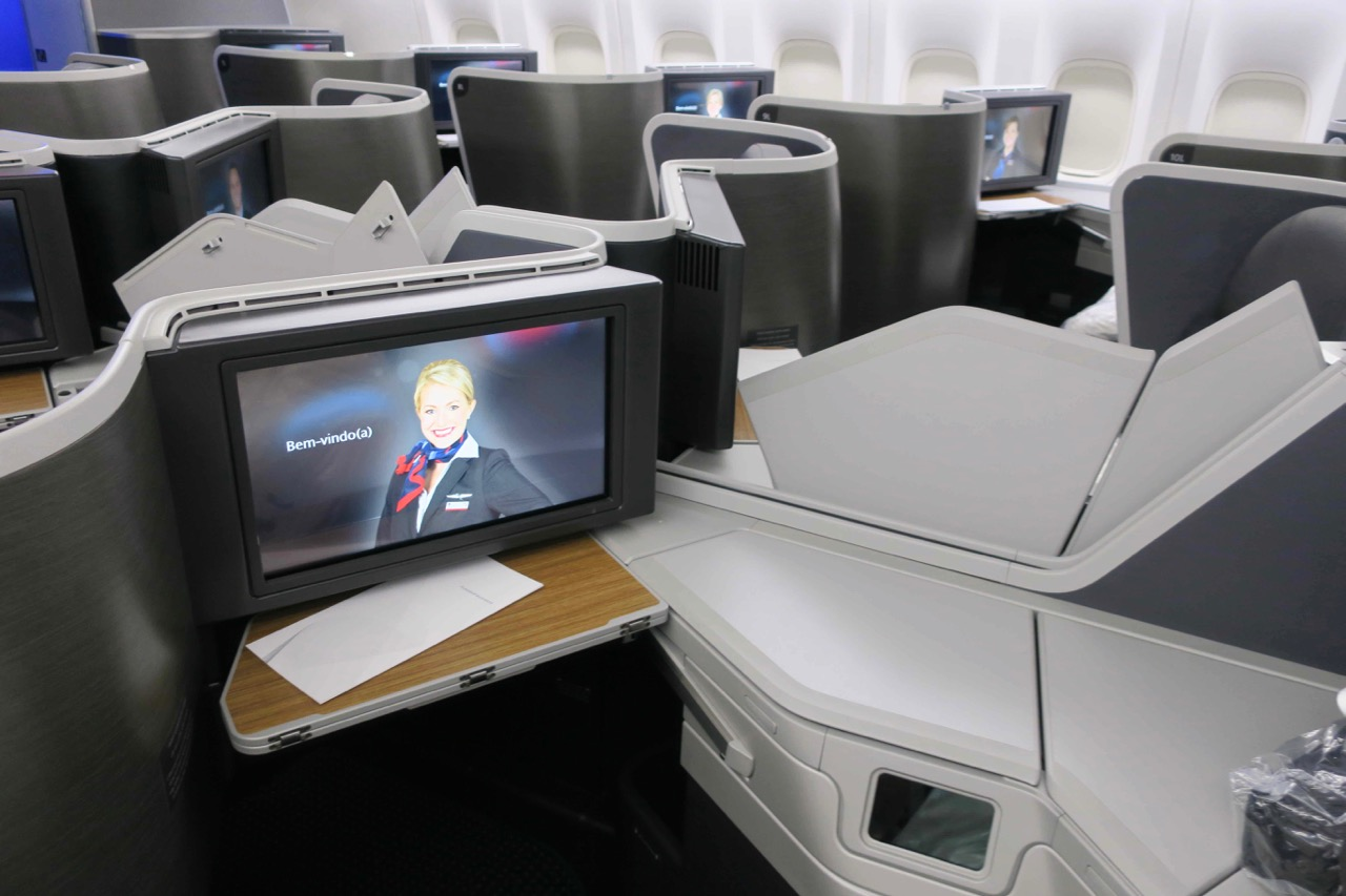 review of American Airlines Business Class Boing 777