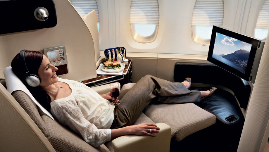 Top 5 business class airlines to Singapore from the USA