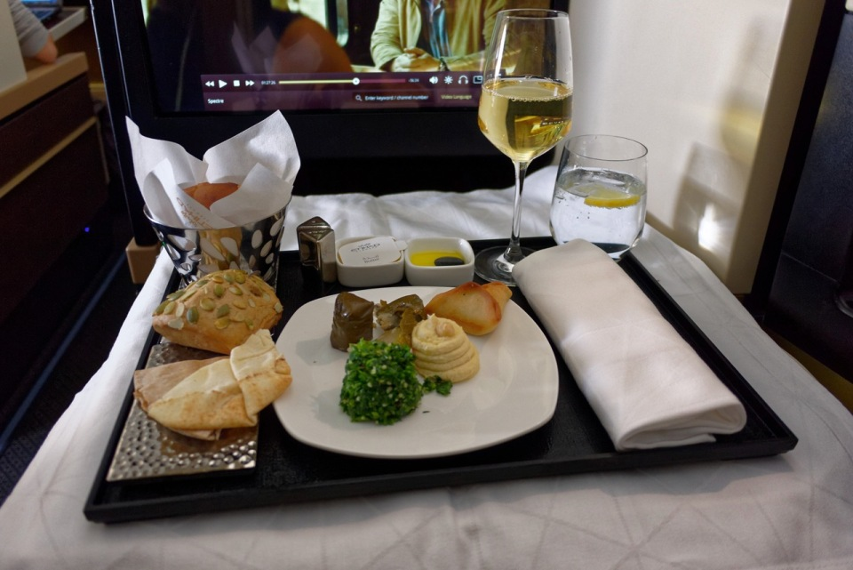 Etihad Business Class A380 food review
