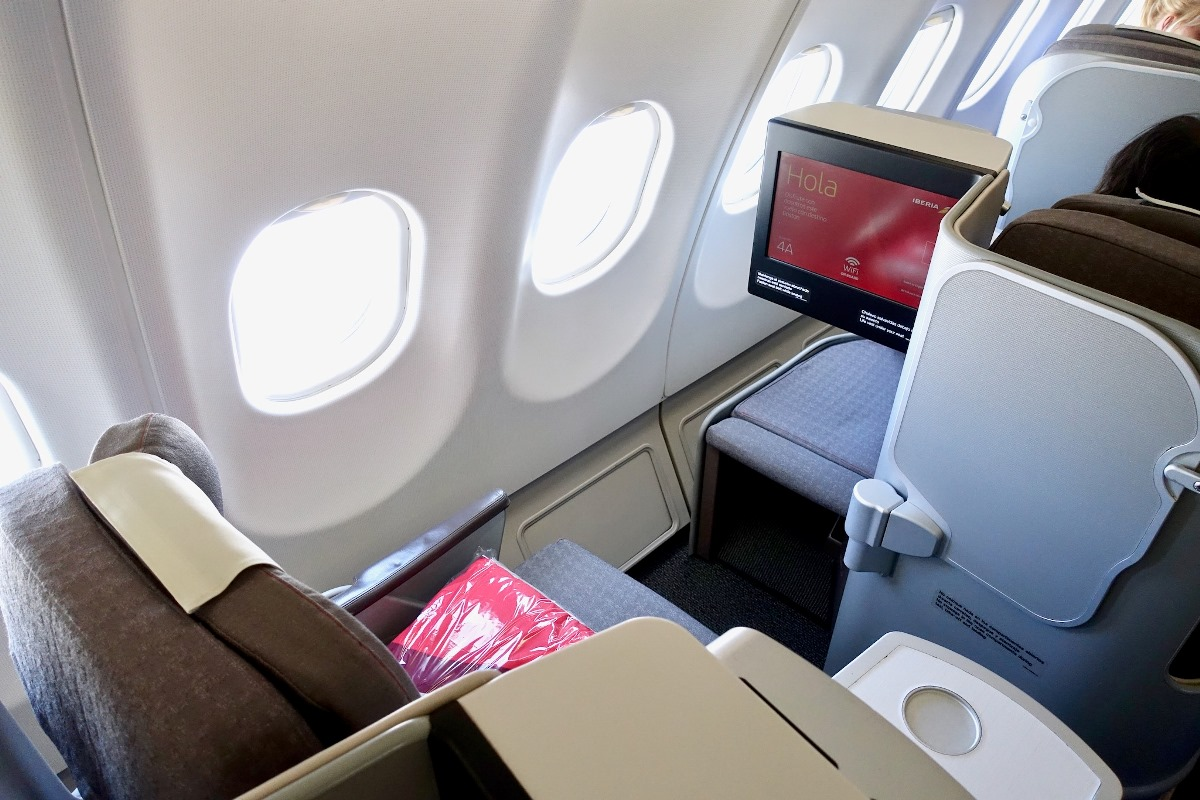 business class to Madrid
